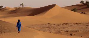 Beduine in der Sahara